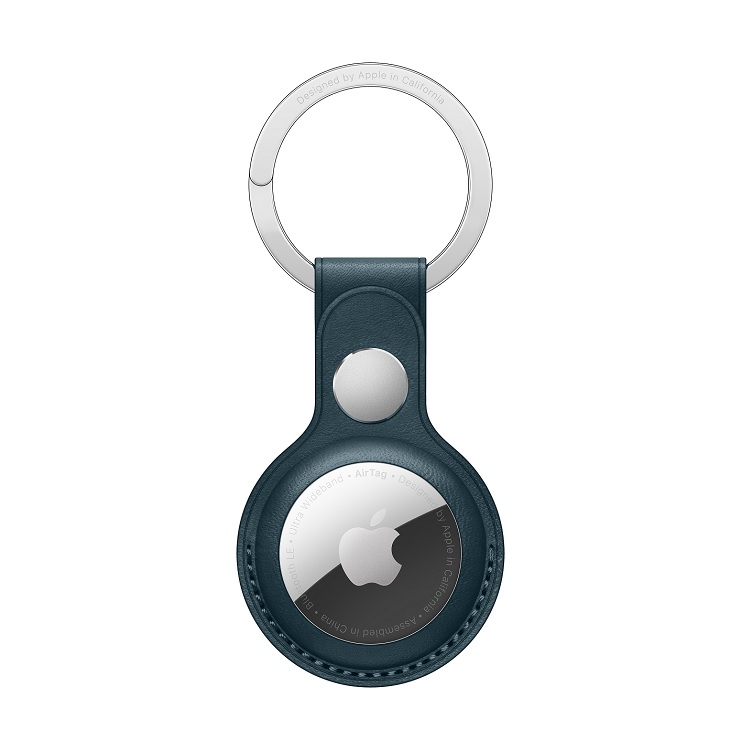 AirTag Leather Key Ring Baltic Blue