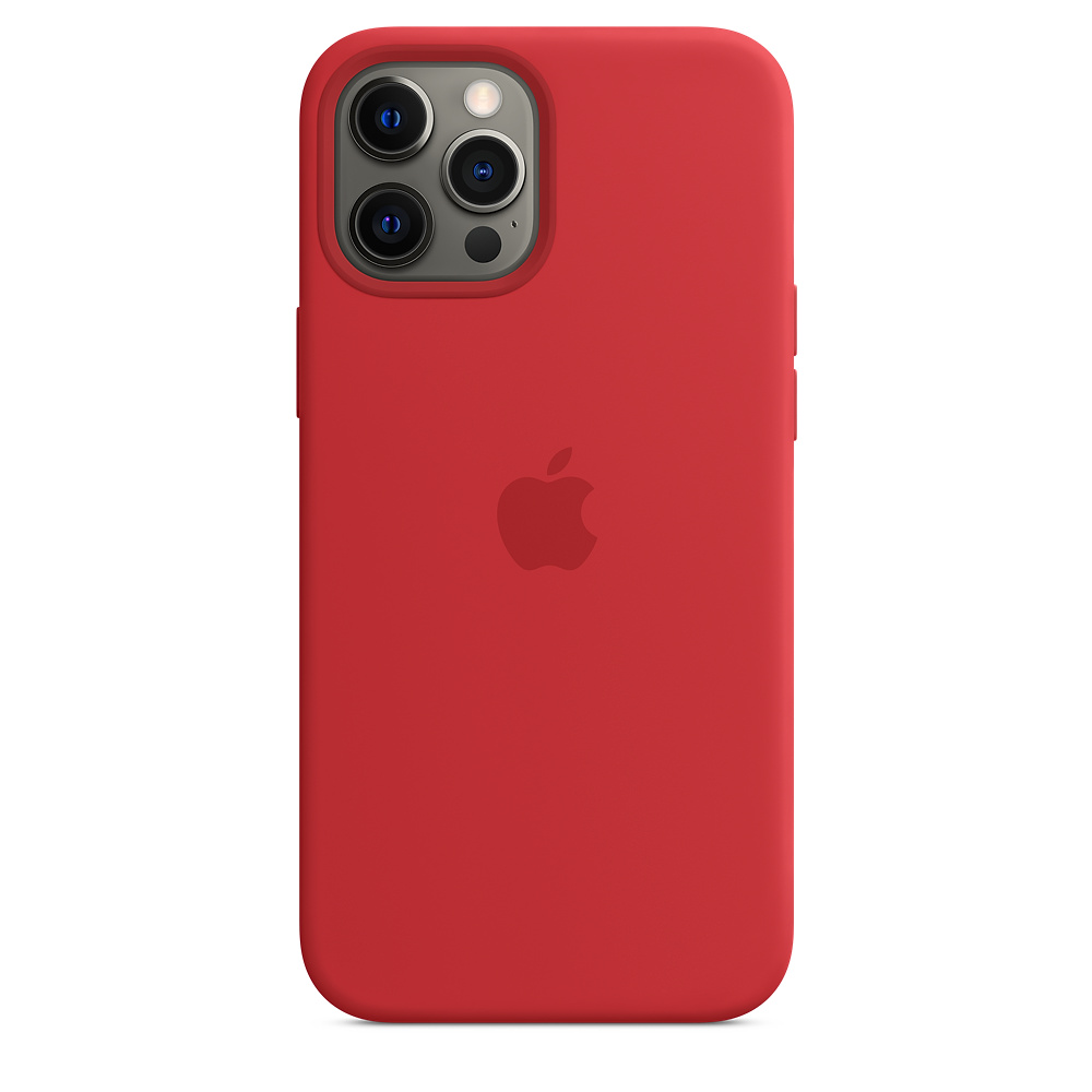 Case Apple Silicone MagSafe - iPhone 12 Pro Max Red