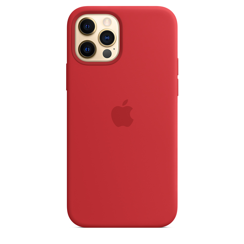 Case Apple Silicone MagSafe - iPhone 12 & 12 Pro Red