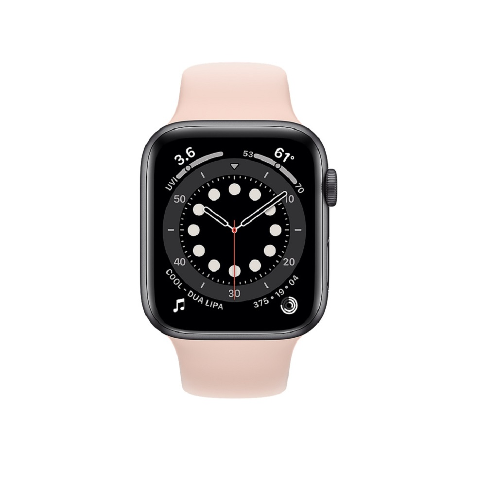 Apple Watch Series 6 44mm Gold Aluminium Case with Pink Sand Sport Band
