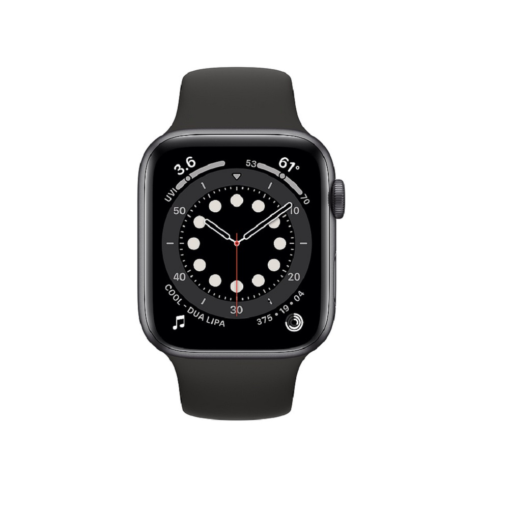 Apple Watch Series 6  44mm Space Gray Aluminium Case with Black Sport Band