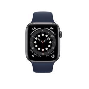 Apple Watch Series 6  44mm Blue Aluminium Case with Deep Navy Sport Band